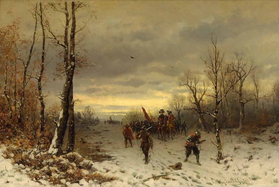 Josef F Heydendahl Szene aus dem dreißigjährigem Krieg, Kehlmann Tyll