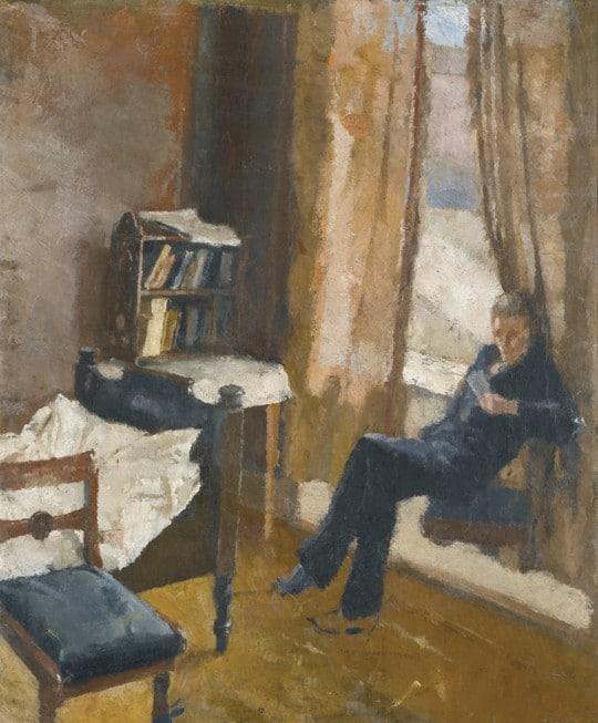 Edvard Munch - Lesender Andreas Norwegische Literatur