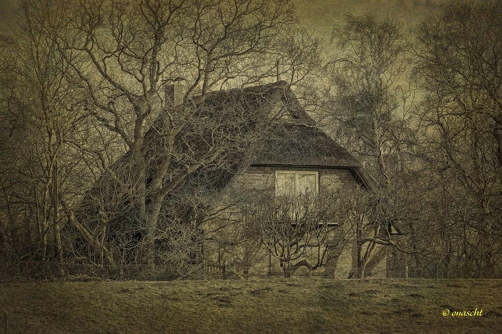 Einsames Haus Durch die Nacht