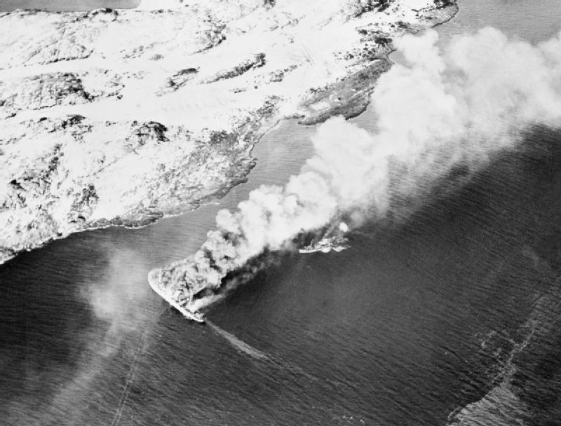 Die Rigel sinkt vor Norwegen, November 1944