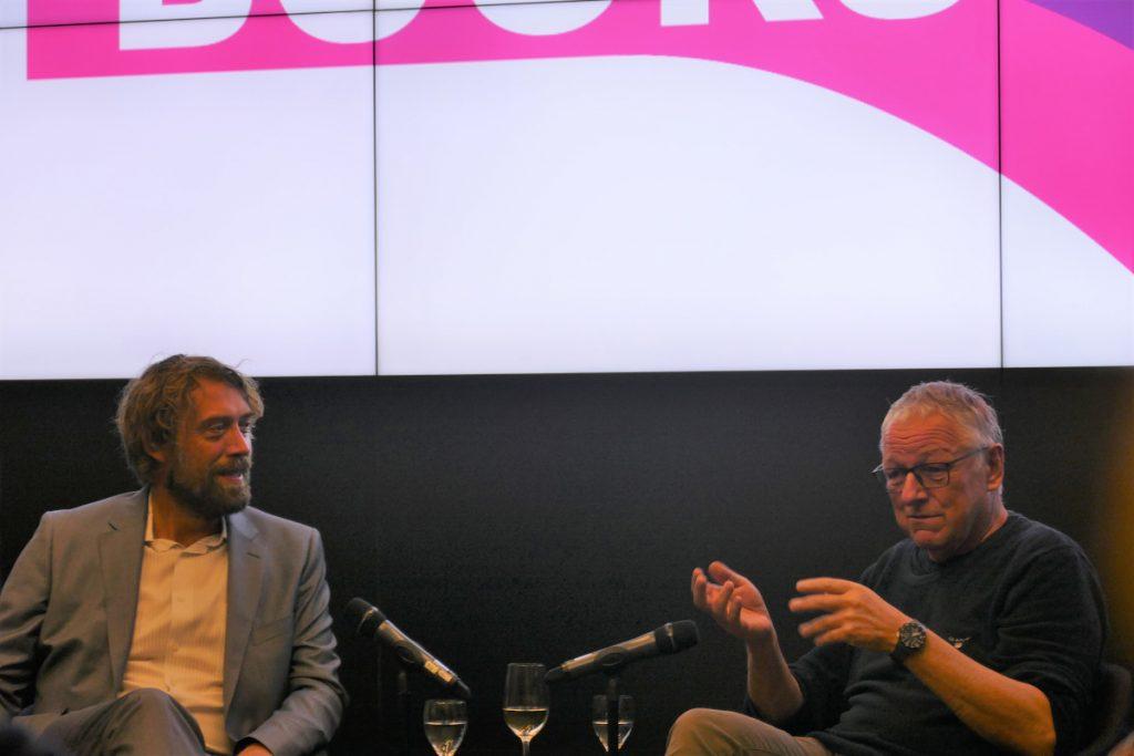 Knut Cordsen und Roy Jacobsen in der Evangelischen Akademie