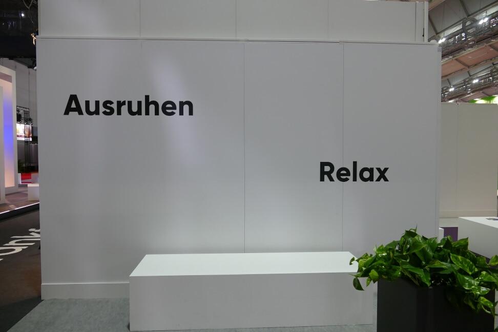 Ausruhen auf der Frankfurter Buchmesse