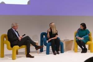Jürgen Boos, Caroline Fortin und Margit Walsø bei der Übergabefeier