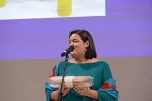 Caroline Fortin, Vorsitzende des Ehrengastkomitees CanadaFBM2020