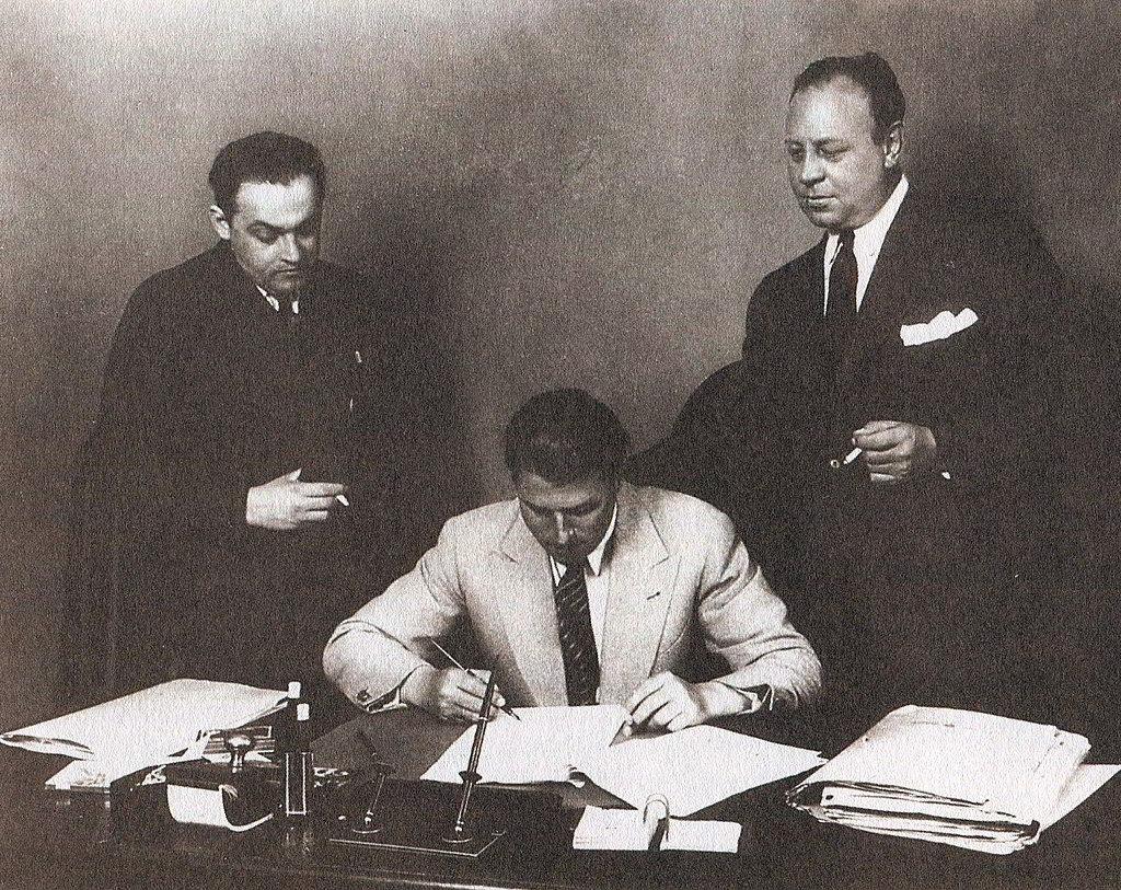 Erich Pommer, Carl Zuckmayer, Emil Jannings