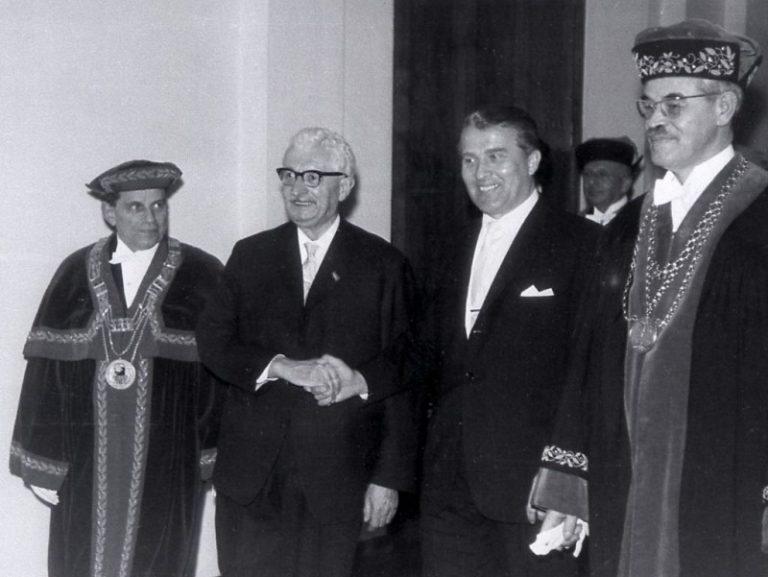 Hermann Oberth und Werher von Braun,
