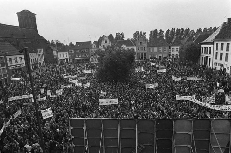 Demonstration in Kalkar 1974