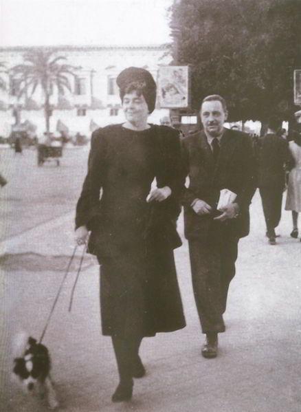 Licy und Giuseppe Tomasi die Lampedusa in Palermo (Dreißiger Jahre)