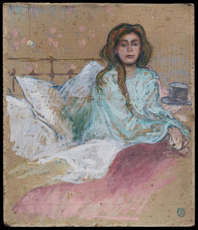 Henri de Toulouse-Lautrec - Woman seated in bed-